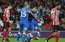 Joe Ward of Peterborough United celebrates his goal with team-mate Marcus Maddison - Mandatory by-line: Joe Dent/JMP - 02/10/2018 - FOOTBALL - Stadium of Light - Sunderland, England - Sunderland v Peterborough United - Sky Bet League One