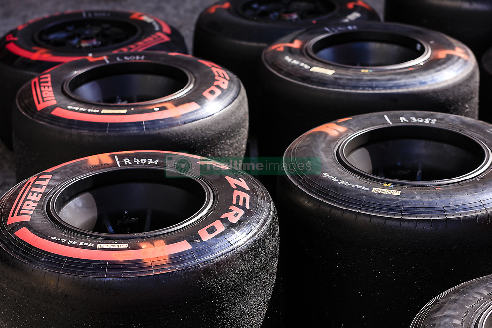 March 1, 2019 - Barcelona, Barcelona, Spain - Pirelli tyres during the Formula 1 2019 Pre-Season Tests at Circuit de Barcelona - Catalunya in Montmelo, Spain on March 1. (Credit Image: © Xavier Bonilla/NurPhoto via ZUMA Press)
