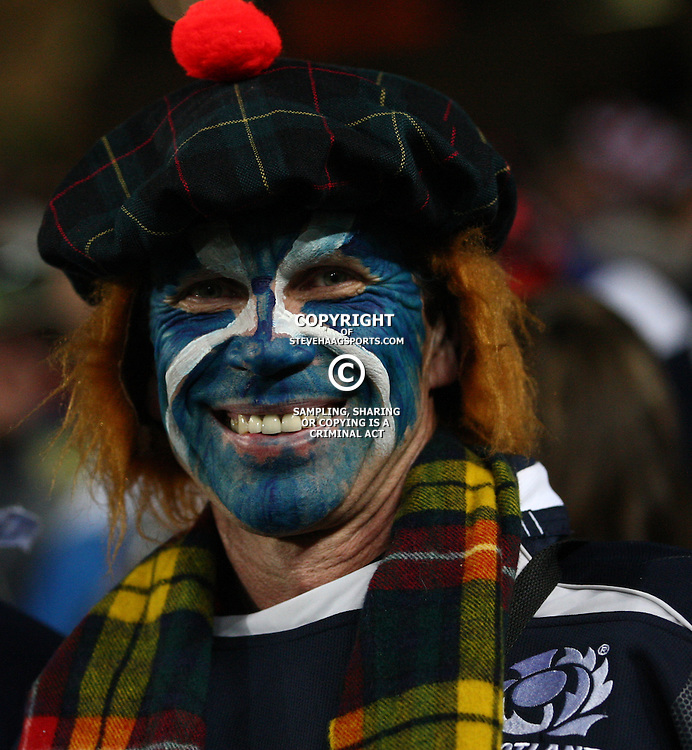 AUCKLAND, NEW ZEALAND - OCTOBER 01,A Scottish fan during the 2011 IRB Rugby World Cup match between England and Scotland at Eden Park on October 01, 2011 in Auckland, New Zealand<br /> Photo by Steve Haag / Gallo Images