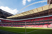 general shot of the stadium at the The FA Cup Final match between Arsenal and Chelsea at Wembley Stadium, London, England on 27 May 2017. Photo by Sebastian Frej.