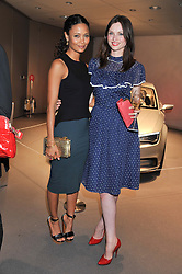 Left to right, THANDIE NEWTON and SOPHIE ELLIS-BEXTOR at the Global Launch of Audi's first Digital Showroom, 74-75 Piccadilly, London on 16th July 2012.