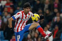 03.02.2013 SPAIN -  La Liga 12/13 Matchday 22th  match played between Atletico de Madrid vs Real Betis Balompie (1-0) at Vicente Calderon stadium. The picture show  Diego da Silva Costa (Brazilian midfielder of At. Madrid)