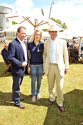Left to right, VISCOUNT LINLEY, LADY ALEXANDRA GORDON-LENNOX and A A GILL at a luncheon hosted by Cartier for their sponsorship of the Style et Luxe part of the Goodwood Festival of Speed at Goodwood House, West Sussex on 5th July 2009.