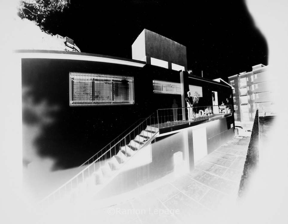 "Images made on  11"" x 14"" B&W paper negatives taken with pinhole camera.."