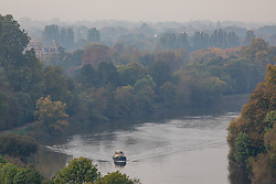 © Licensed to London News Pictures. 23/10/2019. London, UK. Views of the Thames from Richmond Hill in South West London. As weather forecasts predict a wet weekend before the clocks go back on Sunday. Photo credit: Alex Lentati/LNP