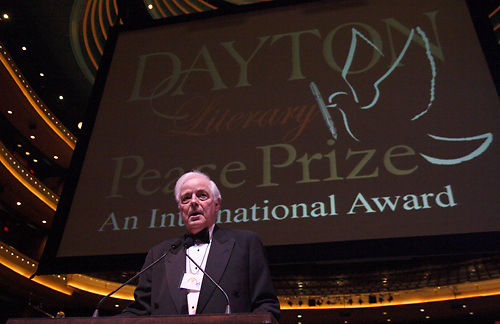 Emcee Nick Clooney during the 2009 Dayton Literary Peace Prize dinner and awards presentation at the Schuster Center in downtown Dayton, Sunday November 08, 2009.