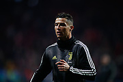 Cristiano Ronaldo of Juventus warms up before the UEFA Champions League, round of 16, 1st leg football match between Atletico de Madrid and Juventus on February 20, 2019 at Wanda metropolitano stadium in Madrid, Spain - Photo Oscar J Barroso / Spain ProSportsImages / DPPI / ProSportsImages / DPPI