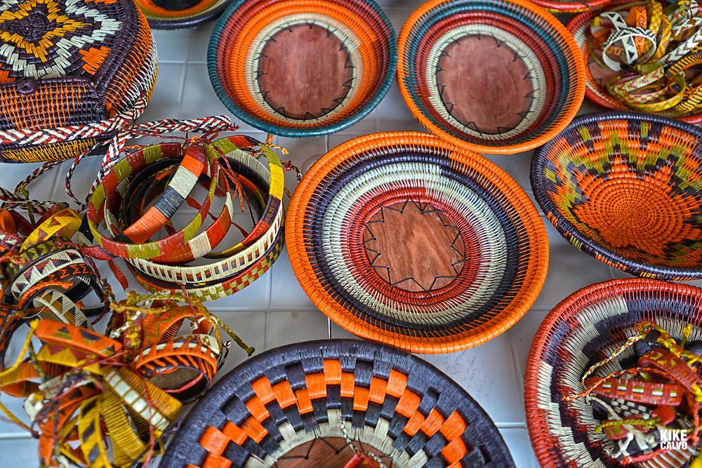 Wounaan arts and crafts, National Natural Park of Uramba,  Bahia Malaga, Colombian Pacific Coast