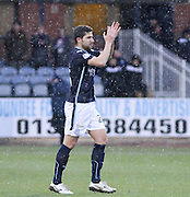 Dundee new boy Kostadin Gadzhalov applauds the crowd -  Dundee v Motherwell, SPFL Premiership at Dens Park <br /> <br /> <br />  - &copy; David Young - www.davidyoungphoto.co.uk - email: davidyoungphoto@gmail.com