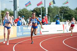 WOODWARD Bethany, FRANCOIS-ELIE Mandy, JASINSKA Natalia, 2014 IPC European Athletics Championships, Swansea, Wales, United Kingdom