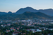 High angle view of Luang Prabang, Laos, from Mount Phousi.