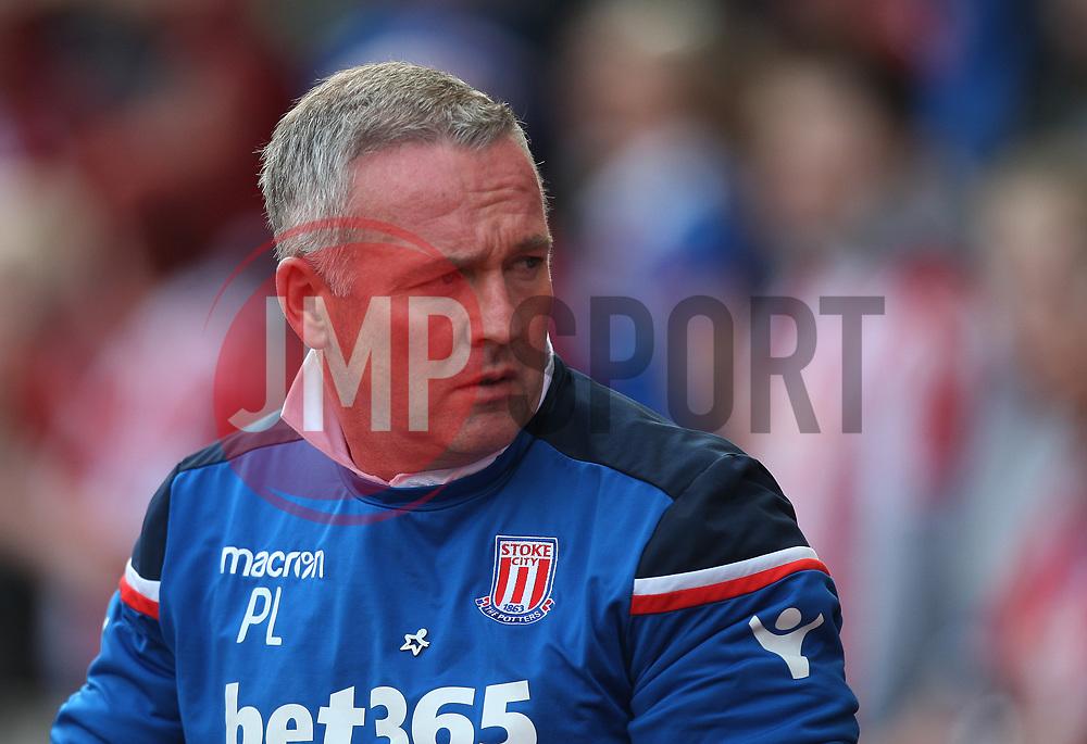 Stoke City manager Paul Lambert  - Mandatory by-line: Jack Phillips/JMP - 22/04/2018 - FOOTBALL - Bet365 Stadium - Stoke-on-Trent, England - Stoke City v Burnley - English Premier League