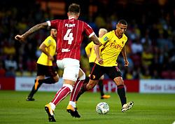 Richarlison of Watford runs with the ball - Mandatory by-line: Robbie Stephenson/JMP - 22/08/2017 - FOOTBALL - Vicarage Road - Watford, England - Watford v Bristol City - Carabao Cup