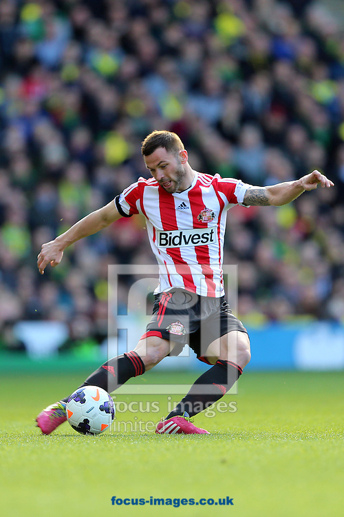 Phillip Bardsley of Sunderland during the Barclays Premier League match against Norwich City at Carrow Road, Norwich<br /> Picture by Richard Calver/Focus Images Ltd +447792 981244<br /> 22/03/2014