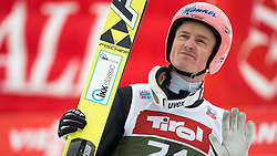 03.01.2015, Bergisel Schanze, Innsbruck, AUT, FIS Ski Sprung Weltcup, 63. Vierschanzentournee, Innsbruck, Qalifikations-Sprung, im Bild Severin Freund (GER) // Severin Freund of Germany reacts after his qualification jump for the 63rd Four Hills Tournament of FIS Ski Jumping World Cup at the Bergisel Schanze in Innsbruck, Austria on 2015/01/03. EXPA Pictures © 2015, PhotoCredit: EXPA/ JFK