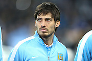 David Silva of Manchester City during the Champions League round of 16 match between Manchester City and Dynamo Kiev at the Etihad Stadium, Manchester, England on 15 March 2016. Photo by Simon Brady.