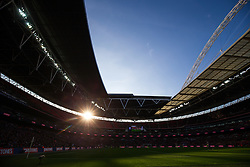 General View inside Wembley as the sun goes down with Bristol City 2-0 up - Photo mandatory by-line: Rogan Thomson/JMP - 07966 386802 - 22/03/2015 - SPORT - FOOTBALL - London, England - Wembley Stadium - Bristol City v Walsall - Johnstone's Paint Trophy Final.