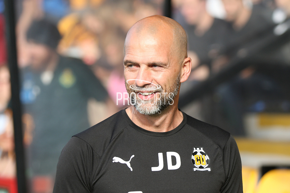 Cambridge United manager Joe Dunne before the EFL Sky Bet League 2 match between Cambridge United and Milton Keynes Dons at the Cambs Glass Stadium, Cambridge, England on 13 October 2018.