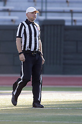 {BLOOMINGTON, IL: Gary Dulaney during a college football game between the IWU Titans  and the Wheaton Thunder on September 15 2018 at Wilder Field in Tucci Stadium in Bloomington, IL. (Photo by Alan Look)
