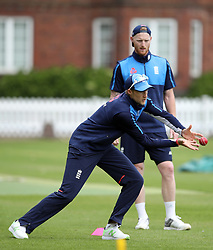 England's Joe root during the nets session at Lord's, London.