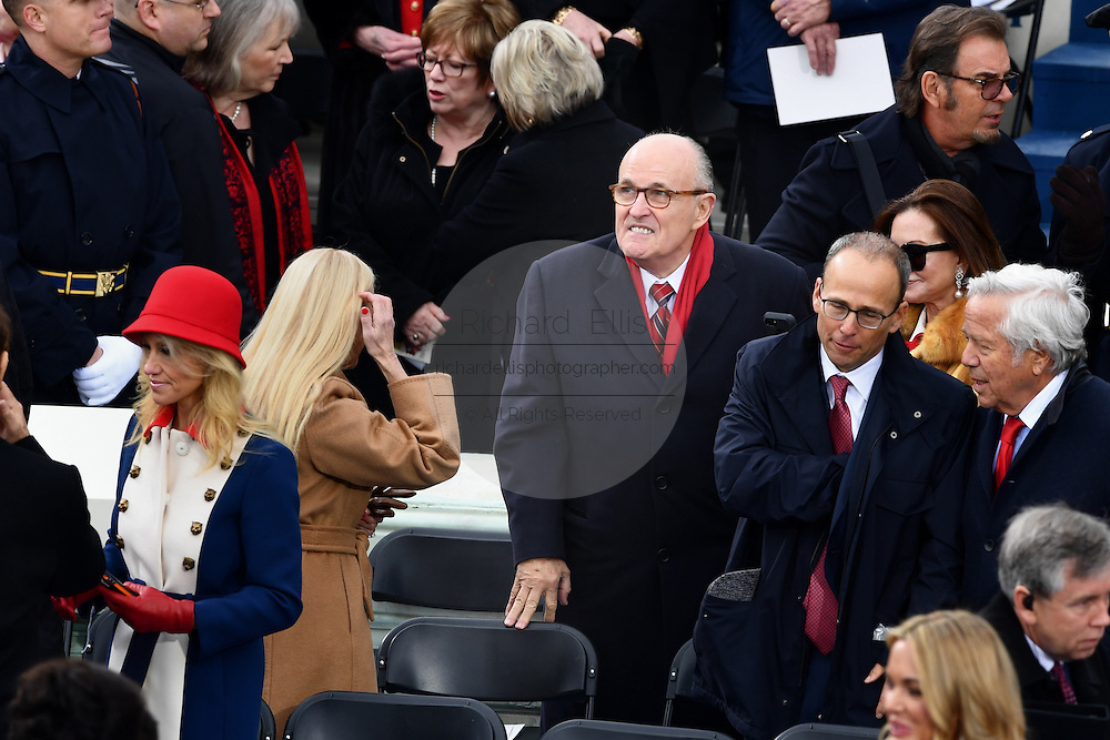 Former New York Mayor Rudy Giuliani arrives for the 68th President Inaugural Ceremony on Capitol Hill January 20, 2017 in Washington, DC. Donald Trump became the 45th President of the United States in the ceremony.