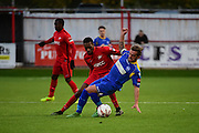 Carshalton Athletic Mickel Miller (9) during the Ryman League - Div One South match between Carshalton Athletic and South Park FC at War Memorial Sports Ground, Carshalton, United Kingdom on 19 November 2016. Photo by Jon Bromley.