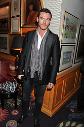 LUKE EVANS at the Johnnie Walker Blue Label and David Gandy partnership launch party held at Annabel's, 44 Berkeley Square, London on 5th February 2013.