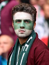 A Plymouth Argyle shows his colours - Mandatory by-line: Robbie Stephenson/JMP - 30/05/2016 - FOOTBALL - Wembley Stadium - London, England - AFC Wimbledon v Plymouth Argyle - Sky Bet League Two Play-off Final