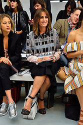 © Licensed to London News Pictures. 20/02/2016. YASMIN LE BON attends the JASPER CONRAN Autumn/Winter 2016 show. Models, buyers, celebrities and the stylish descend upon London Fashion Week for the Autumn/Winters 2016 clothes collection shows. London, UK. Photo credit: Ray Tang/LNP