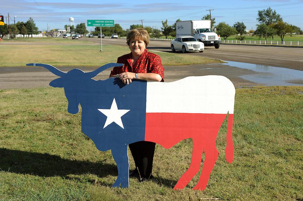 Theresa Brillhart ist die Vorsitzende der 'Texas Republican County Chairmen's Association'...Republikaner-Hochburg Perryton, Texas. ..© Stefan Falke