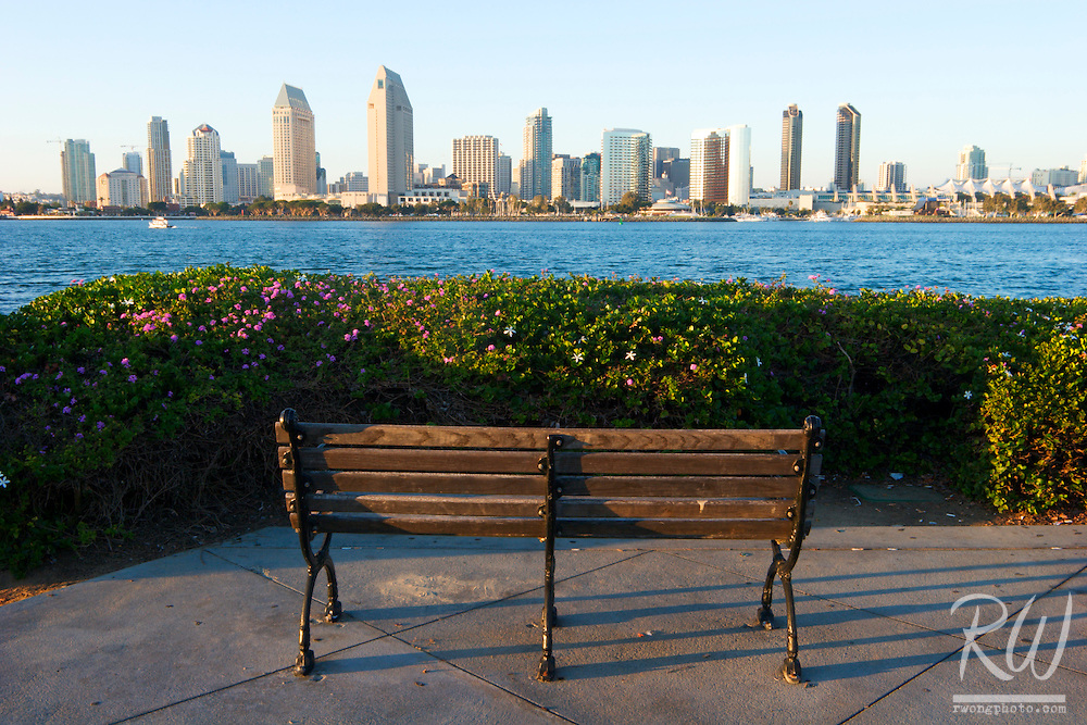 Downtown San Diego Skyscrapers, Coronado Island, California