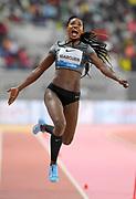 Caterine Ibarguen (COL) wins the women's long jump at 22-2 1/4 (6.76m)  during the IAAF Doha Diamond League 2019 at Khalifa International Stadium, Friday, May 3, 2019, in Doha, Qatar (Jiro Mochizuki/Image of Sport)