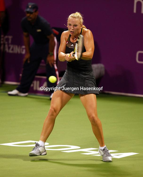 WTA Championships 2010 in Doha / Qatar , internationales WTA Tennis Turnier, Damen Tennis WM, Spielerin Caroline Wozniacki (DEN),action,.