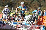 CZECH REPUBLIC / TABOR / WORLD CUP / CYCLING / WIELRENNEN / CYCLISME / CYCLOCROSS / VELDRIJDEN / WERELDBEKER / WORLD CUP / COUPE DU MONDE / #2 / (L-R) MICHAEL VANTHOURENHOUT / TIM MERLIER / JAKUB SKALA /