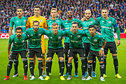 The Legia Warsaw team before the Europa League Play Off leg 2 of 2 match between Rangers FC and Legia Warsaw at Ibrox Stadium, Glasgow, Scotland on 29 August 2019.