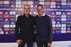 January 7, 2019 - Bruxelles, Belgique - Frank Arnesen technical director of Anderlecht with Fred Rutten (Credit Image: © Panoramic via ZUMA Press)