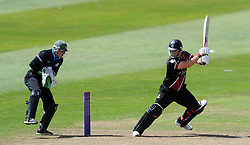 Somerset's Jim Allenby cuts the ball - Photo mandatory by-line: Harry Trump/JMP - Mobile: 07966 386802 - 31/07/15 - SPORT - CRICKET - Somerset v Worcestershire- Royal London One Day Cup - The County Ground, Taunton, England.