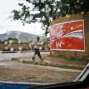 Hand-painted Coca-Cola in the walls of Harar, town listed as World Heritage by UNESCO, Ethiopia, Africa