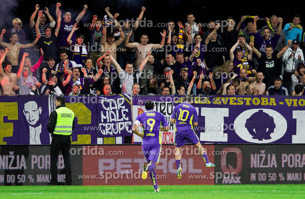 Agim Ibraimi #10 of Maribor celebrates during football match between NK Maribor and NK Celje in final of Slovenian Cup 2013 on May 29, 2013 in Stadium Bonifika, Koper, Slovenia. (Photo By Vid Ponikvar / Sportida)