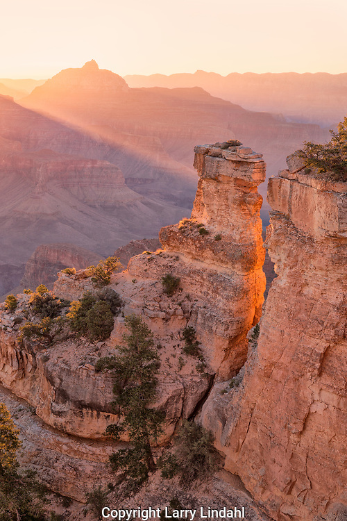 South Rim, sunrise, Yaki Point, Grand Canyon National Park, Arizona,