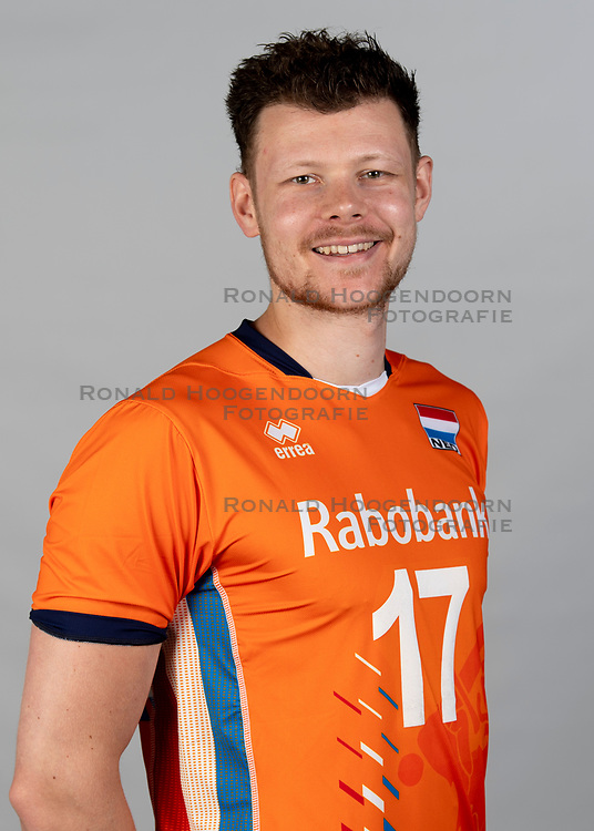 14-05-2018 NED: Team shoot Dutch volleyball team men, Arnhem<br /> Michaël Parkinson #17 of Netherlands