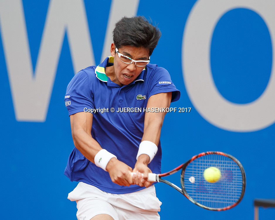 HYEON CHUNG (KOR)<br /> <br /> Tennis - BMW Open2017 -  ATP  -  MTTC Iphitos - Munich -  - Germany  - 2 May 2017.