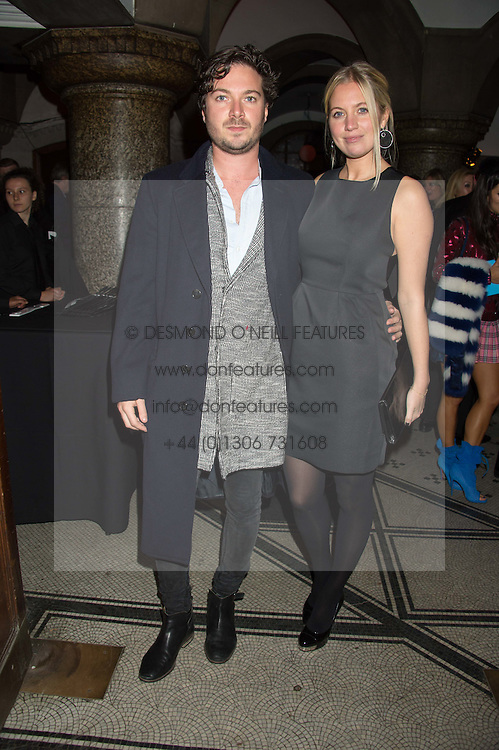 MAX MONTGOMERY and his sister MARISSA MONTGOMERY at the Veuve Clicquot Widow Series launch party hosted by Nick Knight and Jo Thornton MD Moet Hennessy UK held at The College, Central St.Martins, 12-42 Southampton Row, London on 29th October 2015.