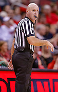 LOUISVILLE, KY - DECEMBER 15: NCAA basketball official Tim Comer is seen during the Louisville Cardinals and Kent State Golden Flashes game at KFC YUM! Center on December 15, 2018 in Louisville, Kentucky. (Photo by Michael Hickey/Getty Images) *** Local Caption *** Tim Comer