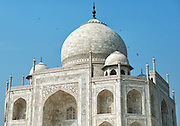 Exterior of Taj Mahal in Agra of India