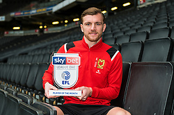 Alex Gilbey of MK Dons wins the Sky Bet League One Player of the Month award for December 2019 - Mandatory by-line: Dougie Allward/JMP - 10/10/2019 - FOOTBALL - Milton Keynes, England.