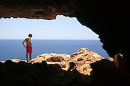 Espa&ntilde;a. Islas Baleares. Formentera. Cueva en Cap de Barbaria.<br /> <br /> &copy; JOAN COSTA