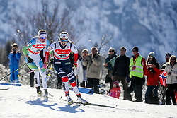 Anamarija Lampic of Slovenia and Mari Eide of Norway during 1.2 km Sprint Classic race at FIS Cross Country World Cup Planica 2016, on January 20, 2018 at Planica, Slovenia. Photo By Morgan Kristan / Sportida