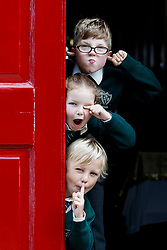 Repro Free: 07/06/2017 Michael O' Neill (7), Emma Lidierth (7) and Henry Cronin (7) pupils of St. Vincent de Paul Infant School, Griffith Avenue, Dublin are pictured as safefood launch a new free educational resource to help teach primary schoolchildren about the media, advertising and fake news. The launch was also attended by the Minister for Education and Skills, Richard Bruton T.D.. Picture Andres Poveda<br /> <br /> ENDS<br /> Media contact <br /> Emma Walsh, T: 087 317 0897 or E: emma.walsh@ogilvy.com