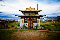 A small temple complex in Murun, Mongolia.